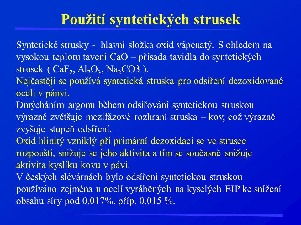 Použití syntetických strusek
