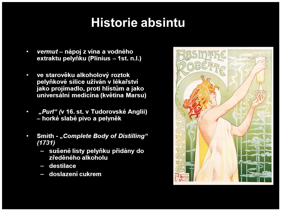 Historie absintu Δ8-THC