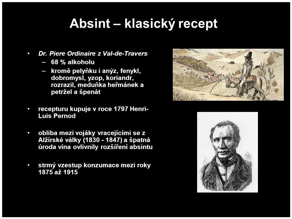 Absint – klasický recept