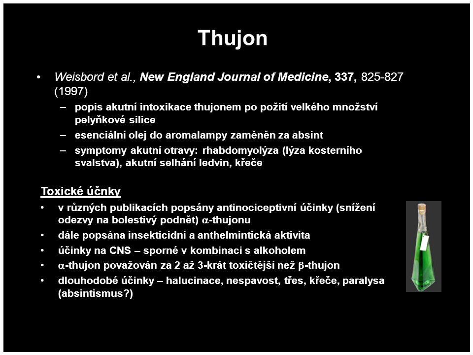 Thujon Weisbord et al., New England Journal of Medicine, 337, 825-827 (1997)
