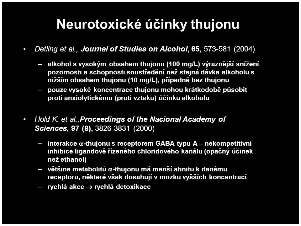 Neurotoxické účinky thujonu