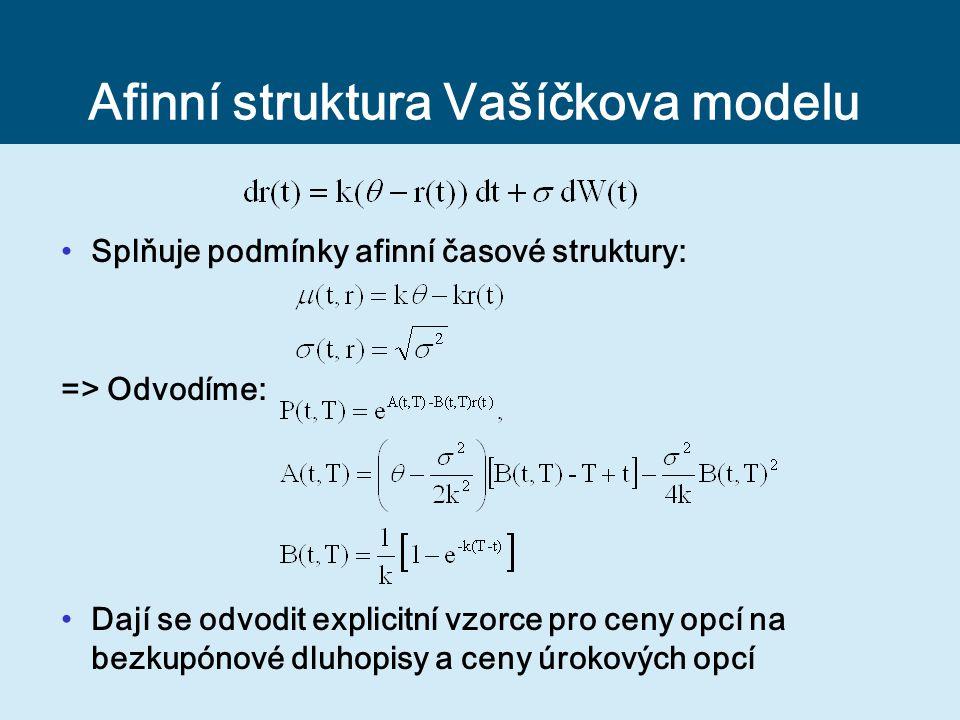 Afinní struktura Vašíčkova modelu