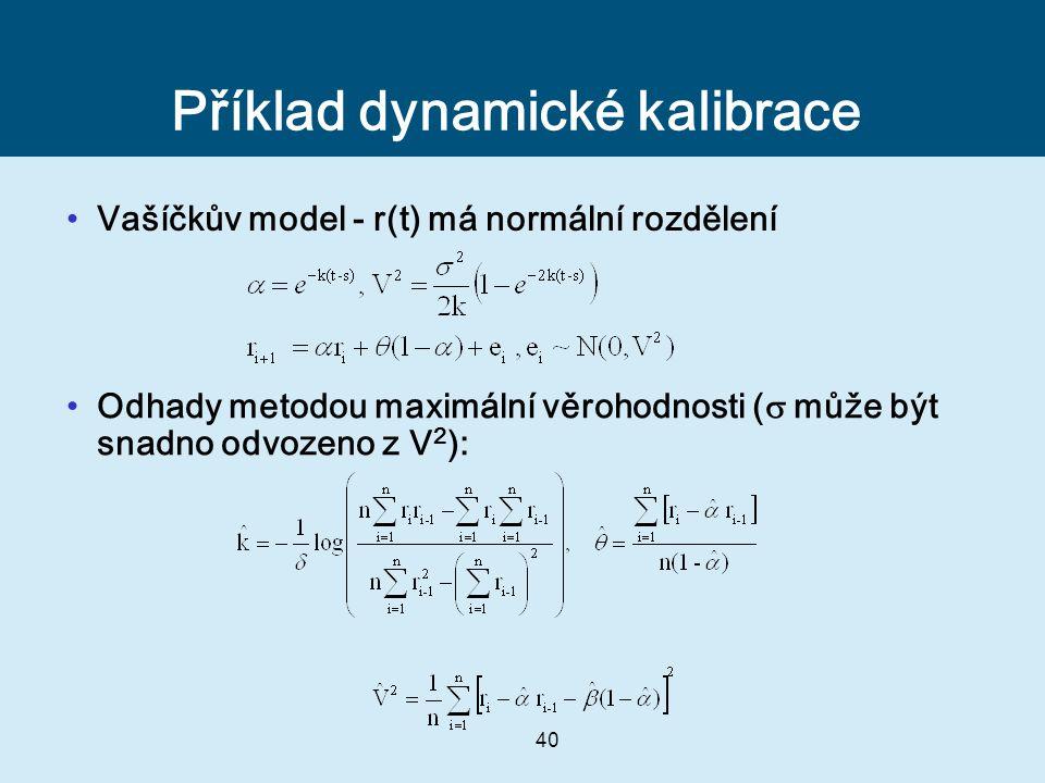 Příklad dynamické kalibrace