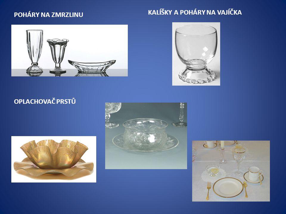 kalíšky a poháry na vajíčka