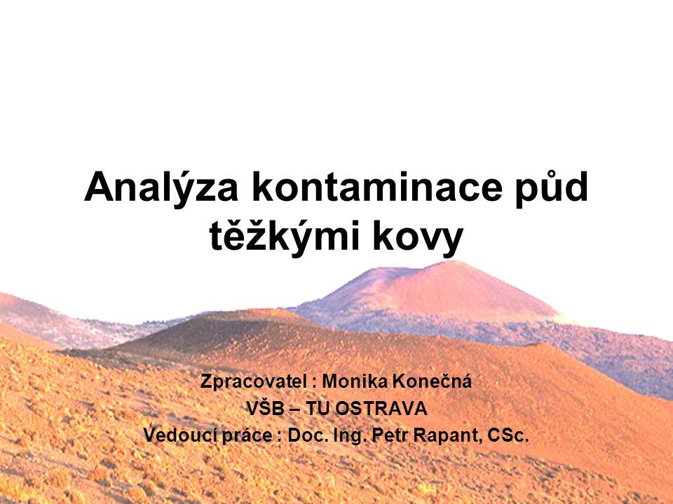 Analýza kontaminace půd těžkými kovy