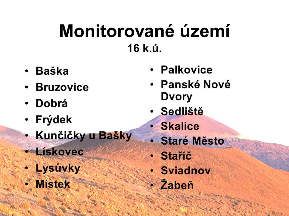 Monitorované území 16 k.ú. Baška Bruzovice Dobrá Frýdek