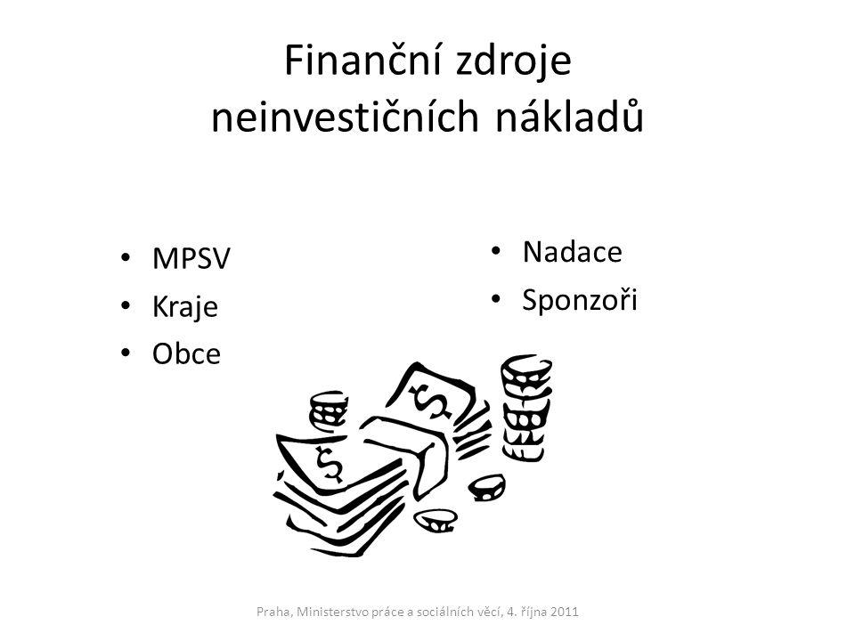 Finanční zdroje neinvestičních nákladů