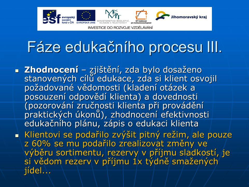 Fáze edukačního procesu III.