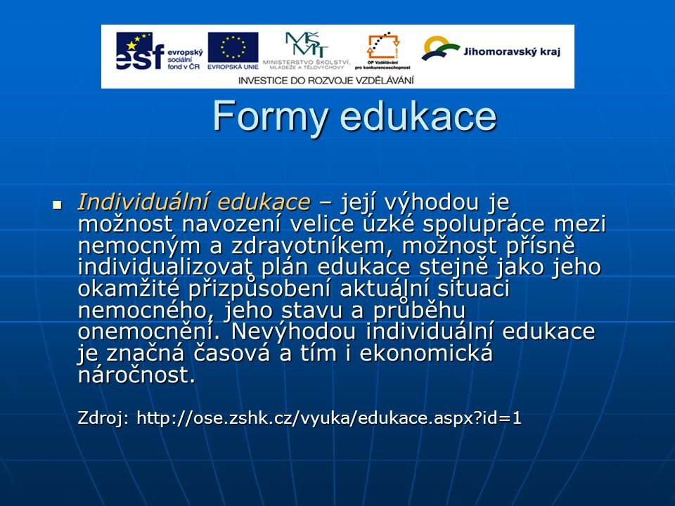 Formy edukace
