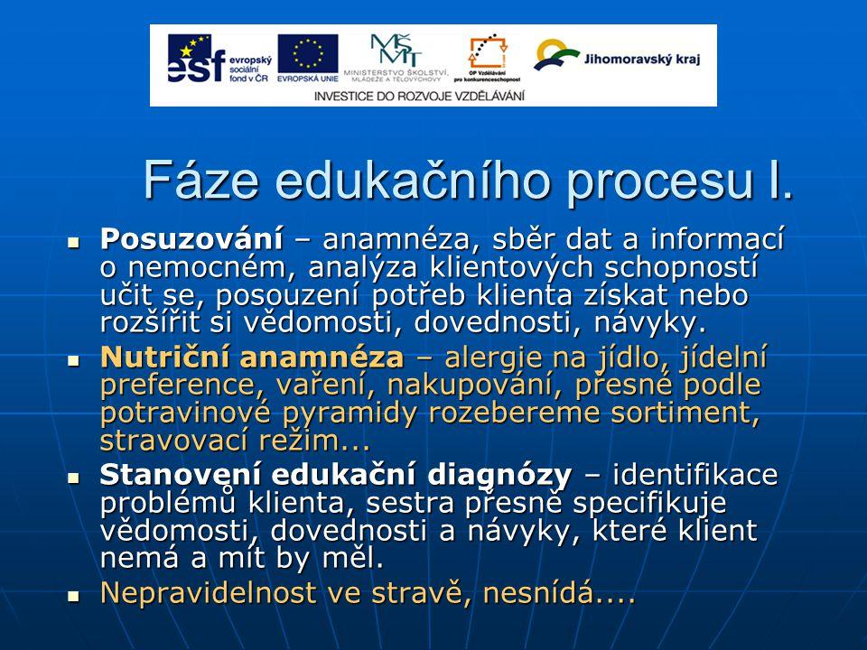 Fáze edukačního procesu I.