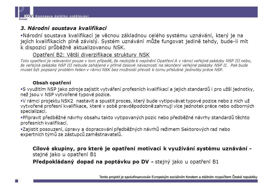 3. Národní soustava kvalifikací