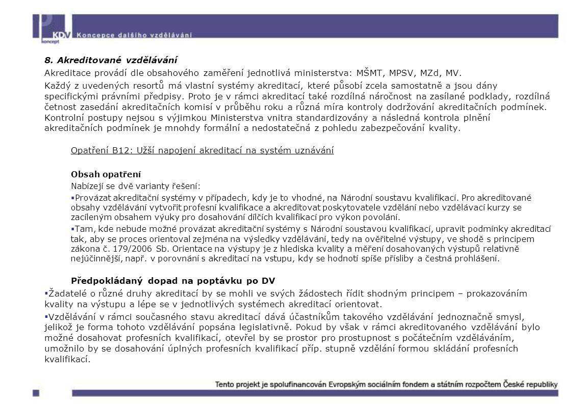 8. Akreditované vzdělávání