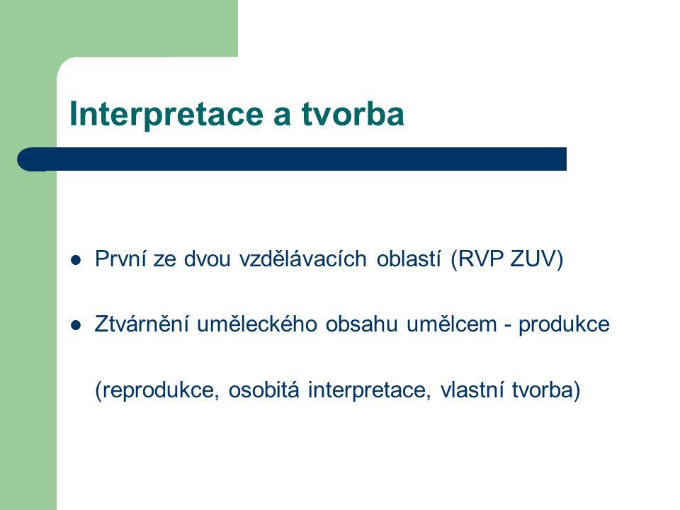 Interpretace a tvorba První ze dvou vzdělávacích oblastí (RVP ZUV)