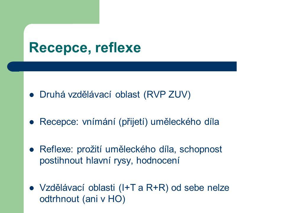 Recepce, reflexe Druhá vzdělávací oblast (RVP ZUV)