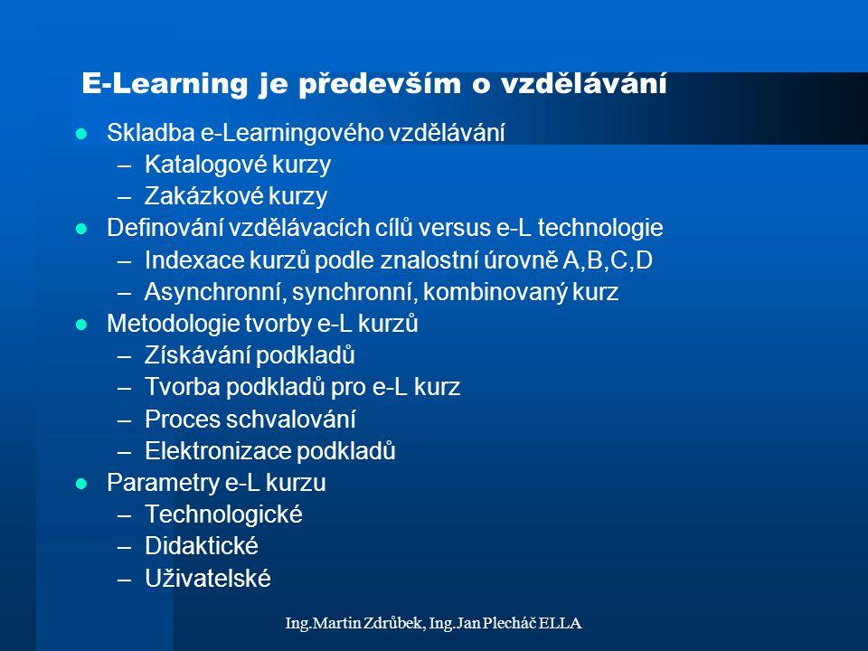 E-Learning je především o vzdělávání