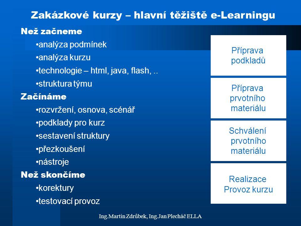 Zakázkové kurzy – hlavní těžiště e-Learningu