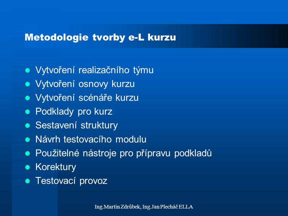 Metodologie tvorby e-L kurzu