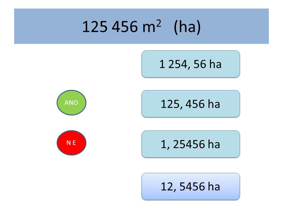 125 456 m2 (ha) 1 254, 56 ha ANO 125, 456 ha N E 1, 25456 ha 12, 5456 ha