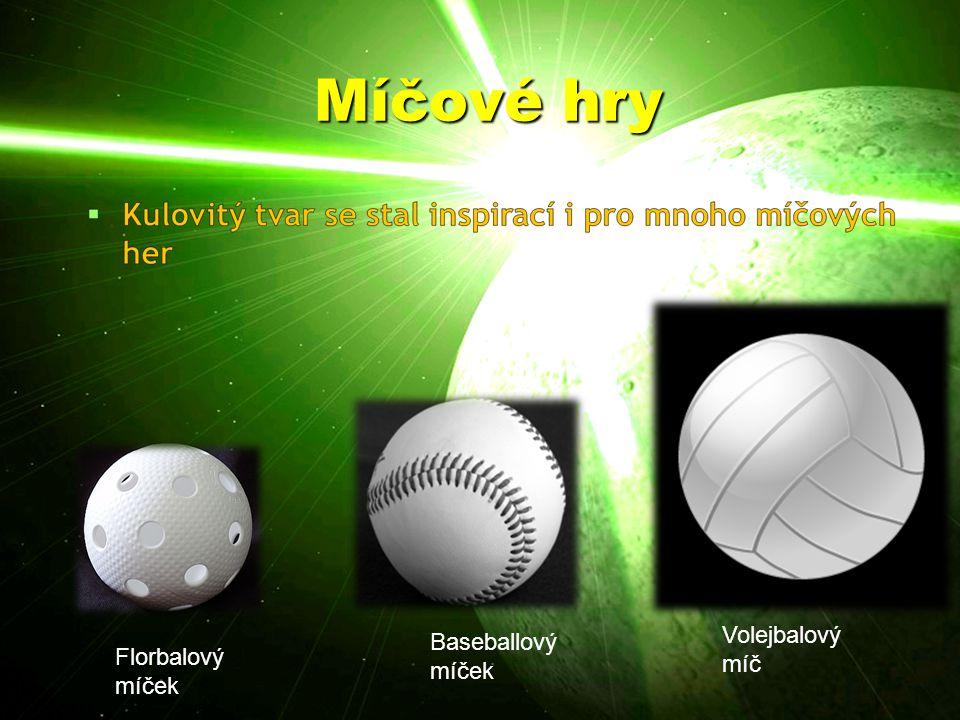 Míčové hry Volejbalový míč Baseballový míček Florbalový míček
