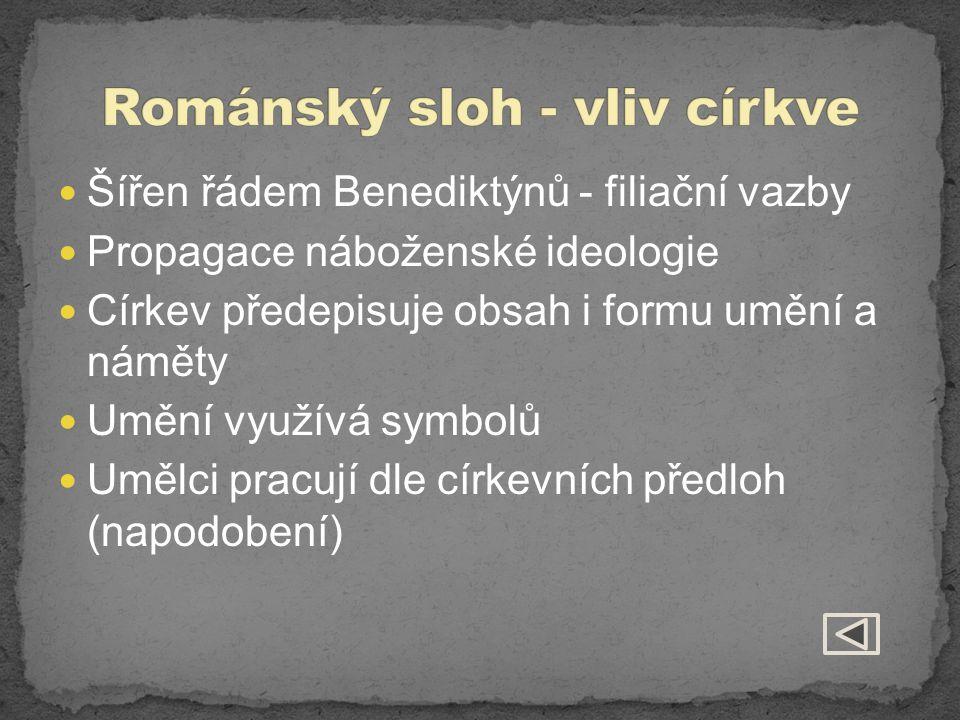 Románský sloh - vliv církve