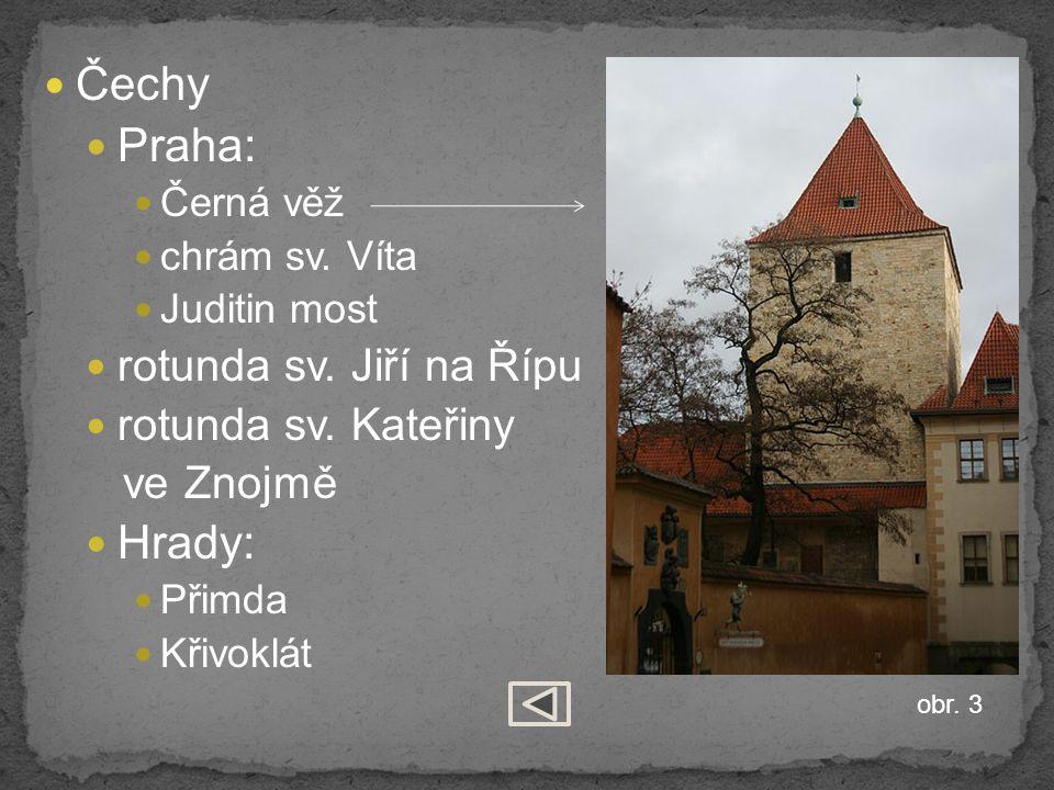 Čechy Praha: Hrady: rotunda sv. Jiří na Řípu rotunda sv. Kateřiny