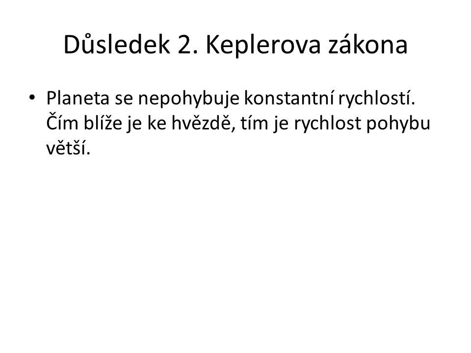 Důsledek 2. Keplerova zákona