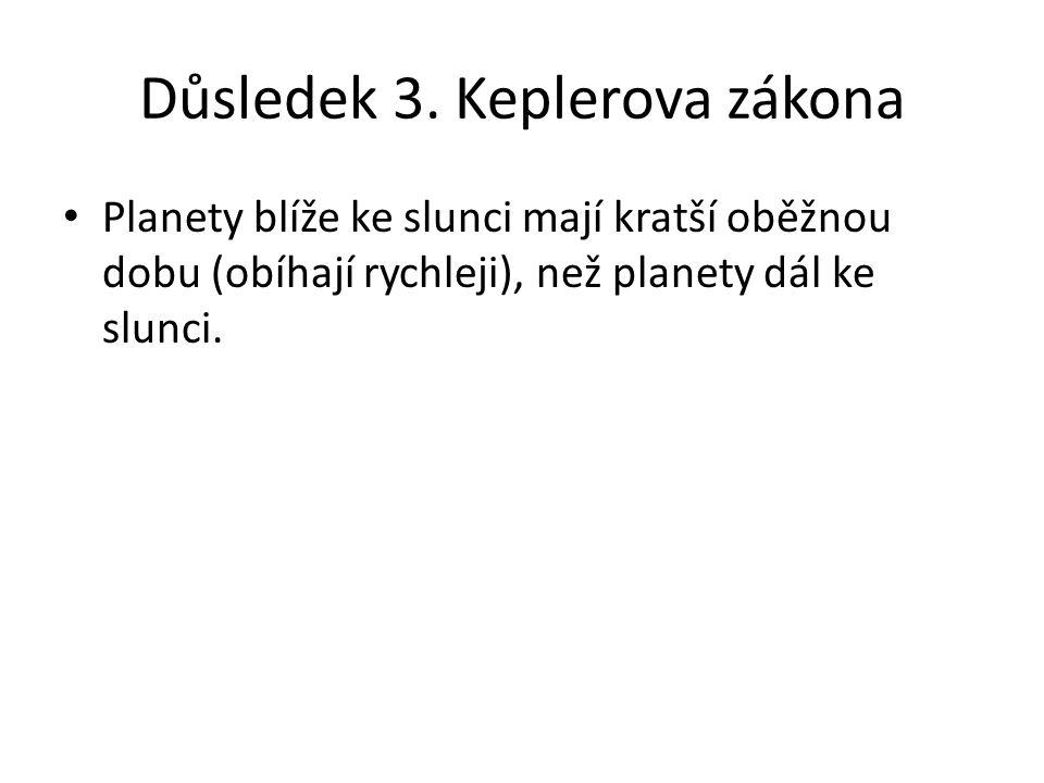 Důsledek 3. Keplerova zákona