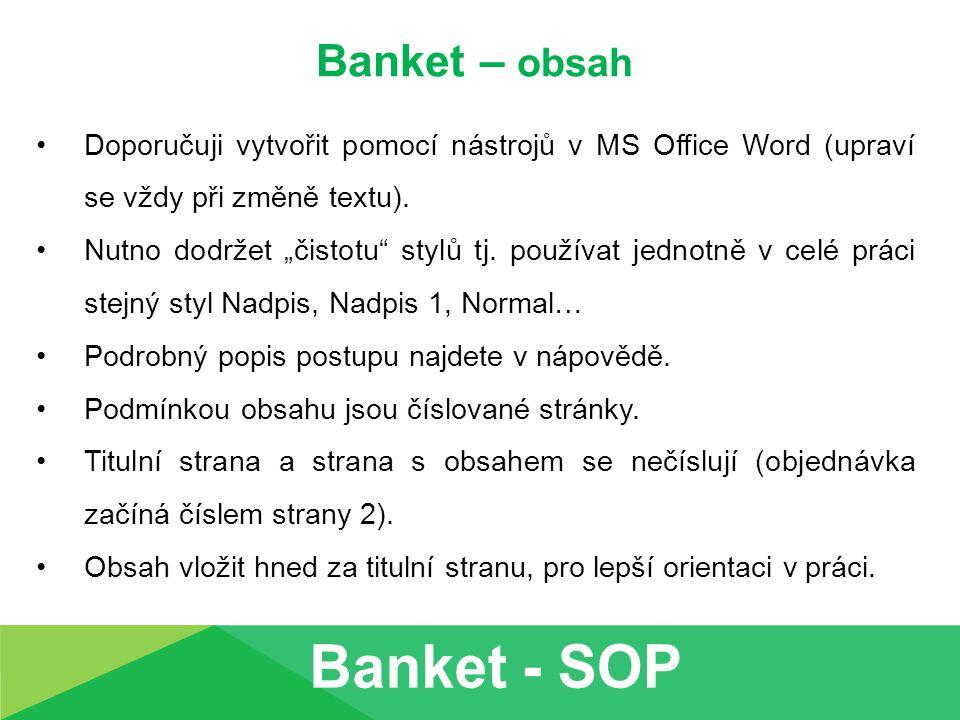 Banket - SOP Banket – obsah