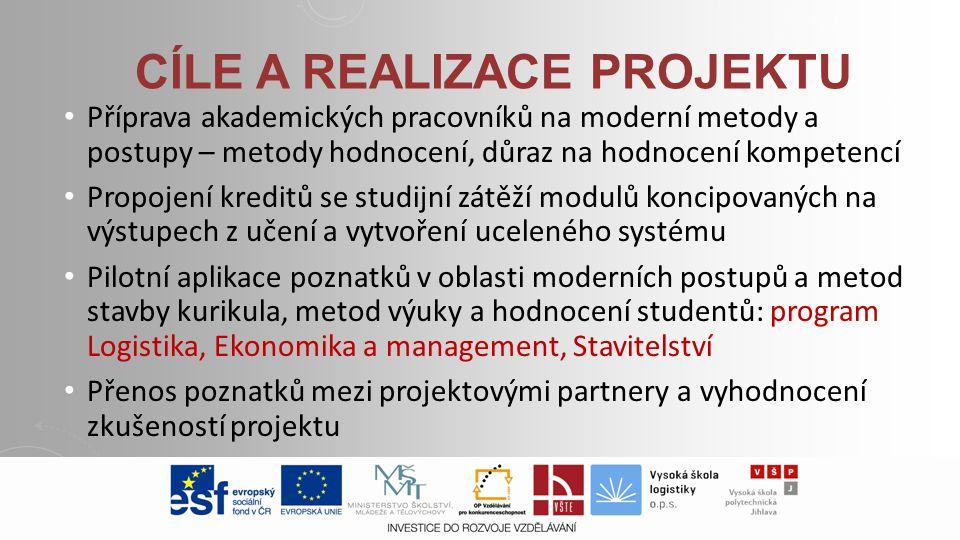 Cíle a realizace projektu