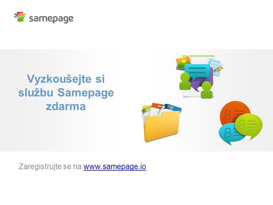 Vyzkoušejte si službu Samepage zdarma