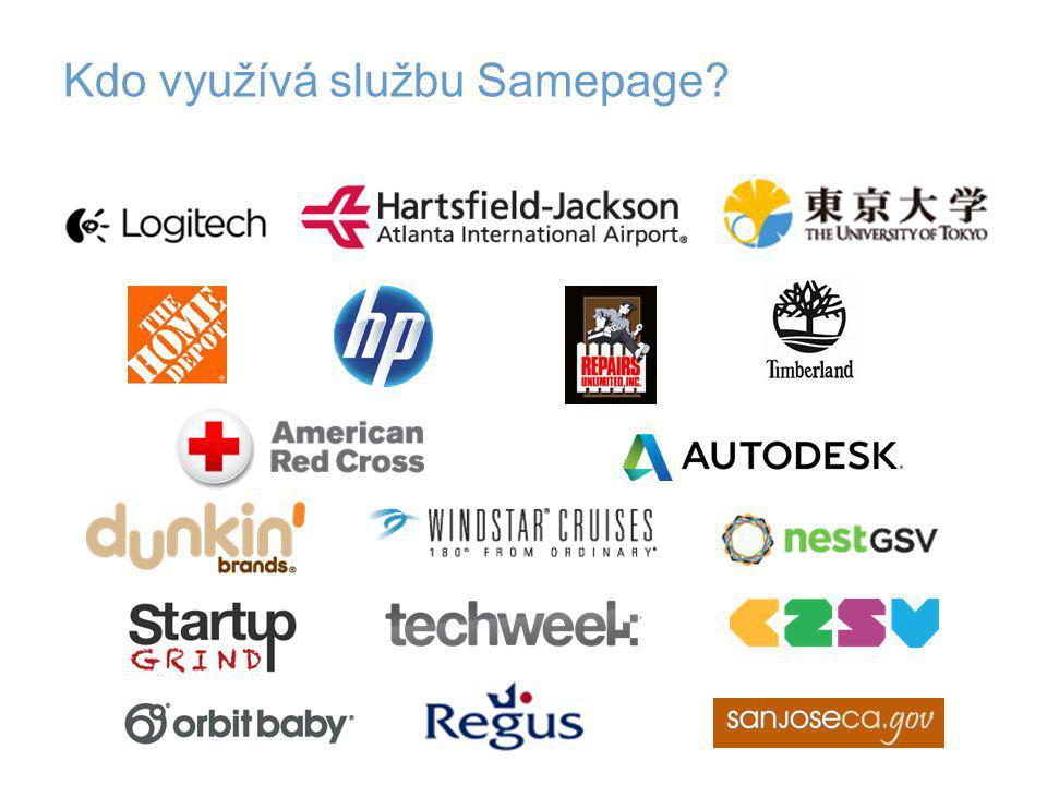 Kdo využívá službu Samepage