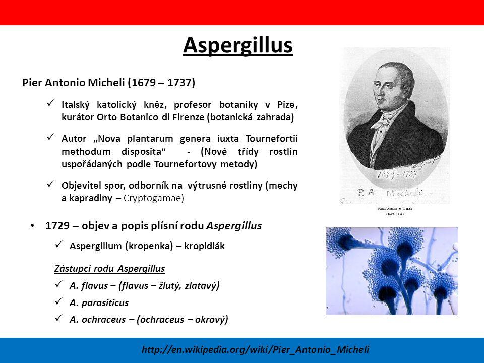 Aspergillus Pier Antonio Micheli (1679 – 1737)