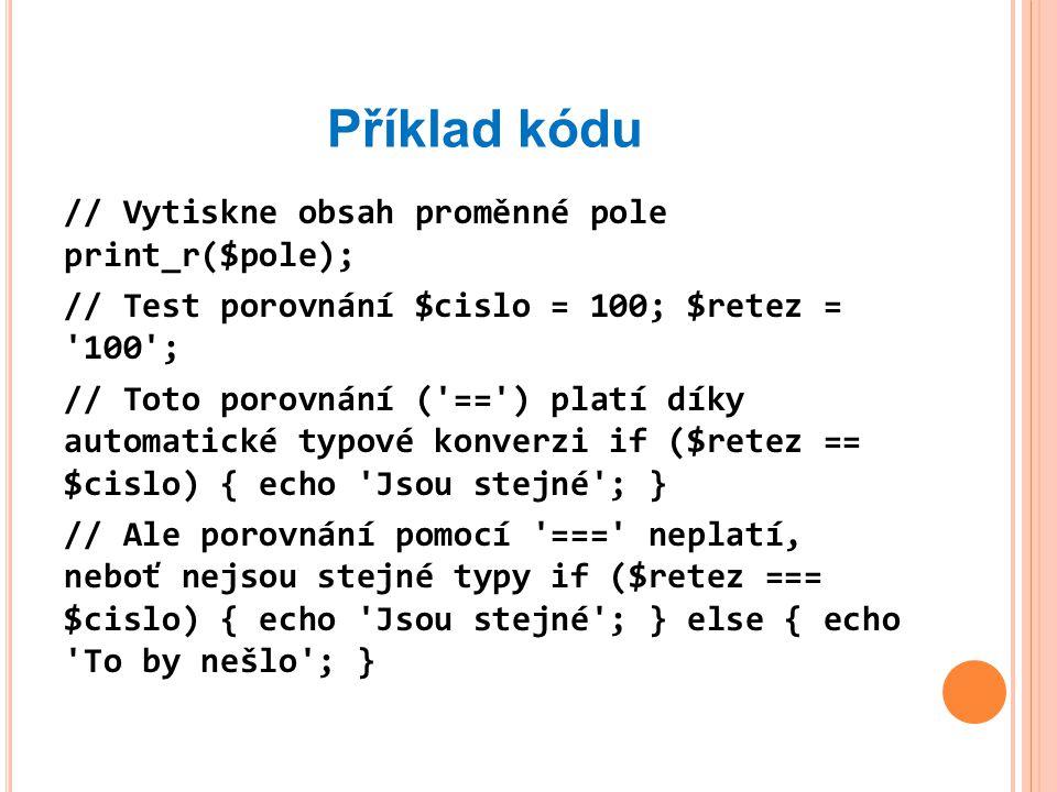 Příklad kódu