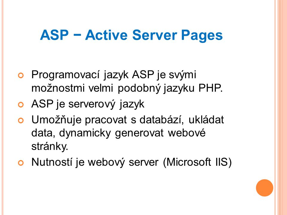 ASP − Active Server Pages