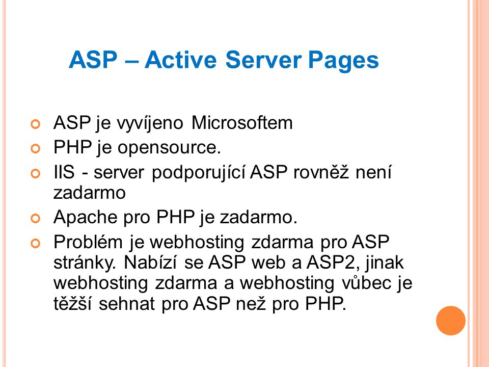 ASP – Active Server Pages