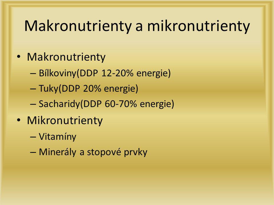 Makronutrienty a mikronutrienty