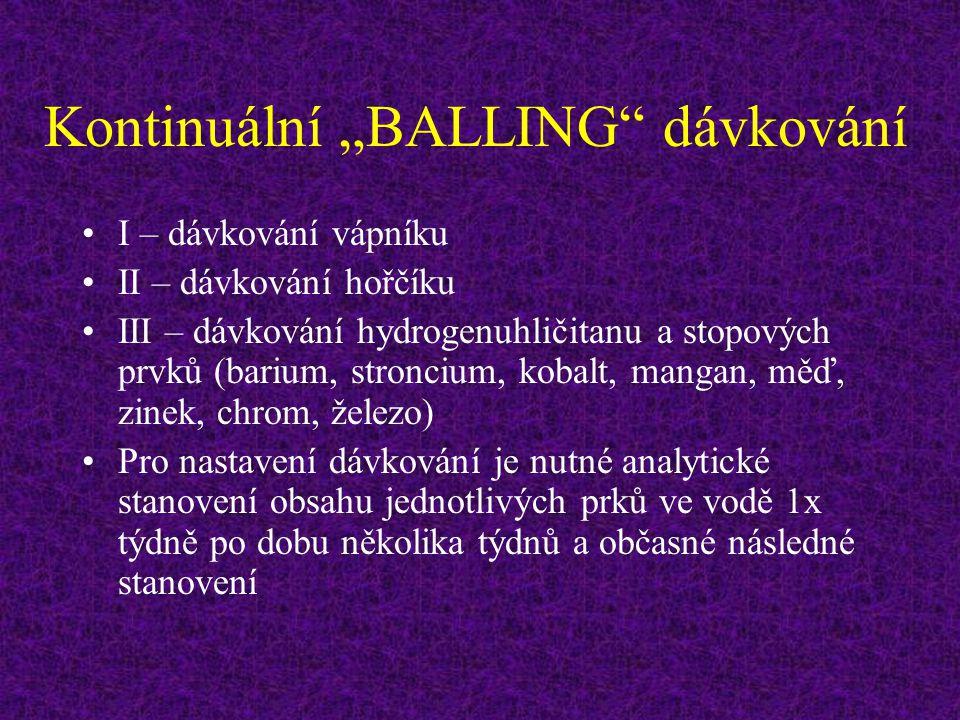 """Kontinuální """"BALLING dávkování"""