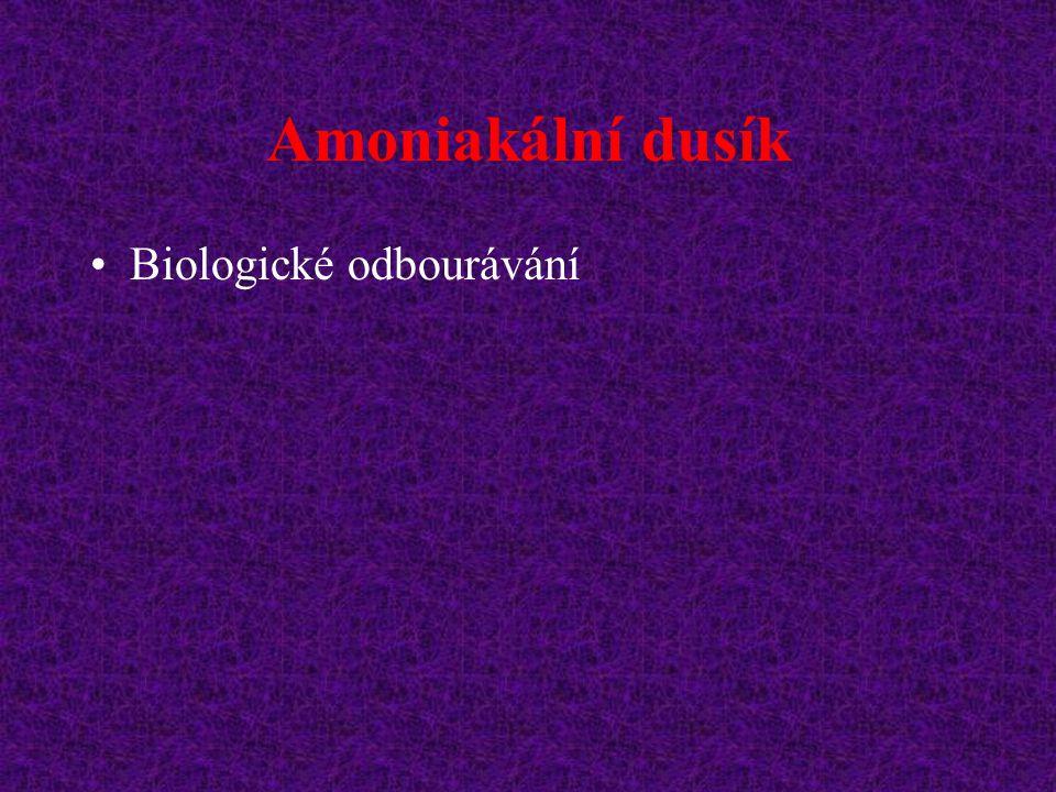 Amoniakální dusík Biologické odbourávání