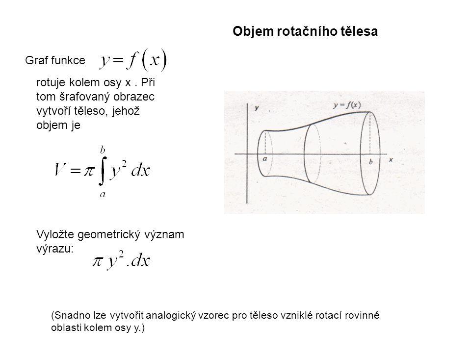 Objem rotačního tělesa