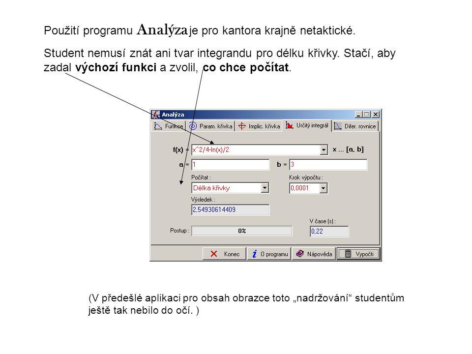 Použití programu Analýza je pro kantora krajně netaktické.