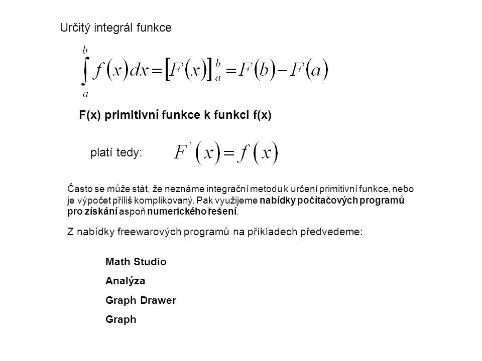 Určitý integrál funkce
