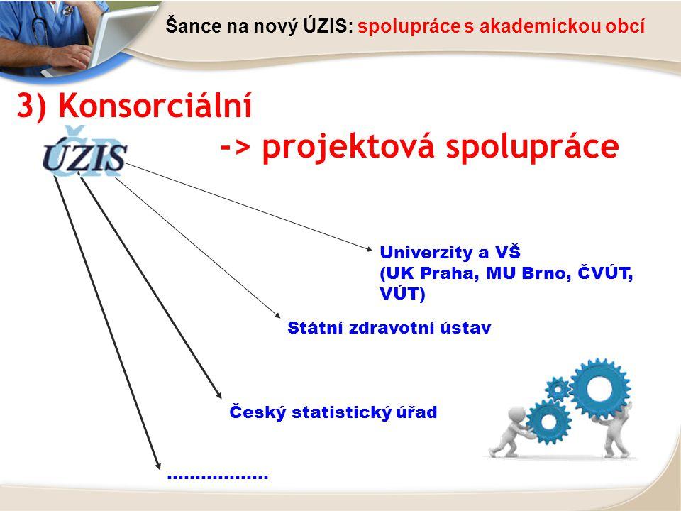 -> projektová spolupráce
