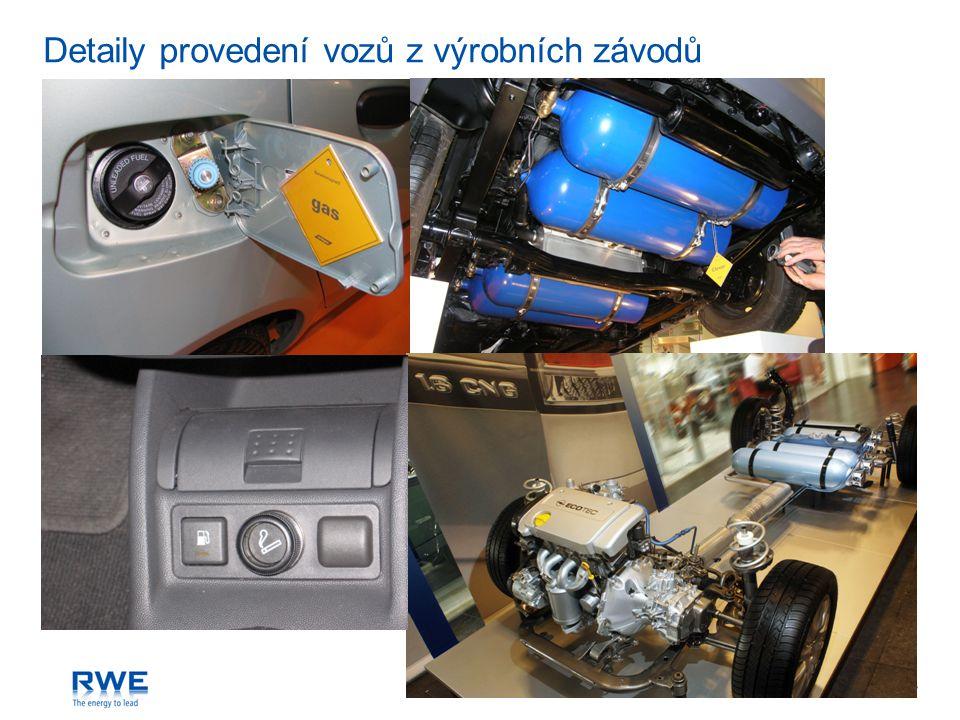 Detaily provedení vozů z výrobních závodů