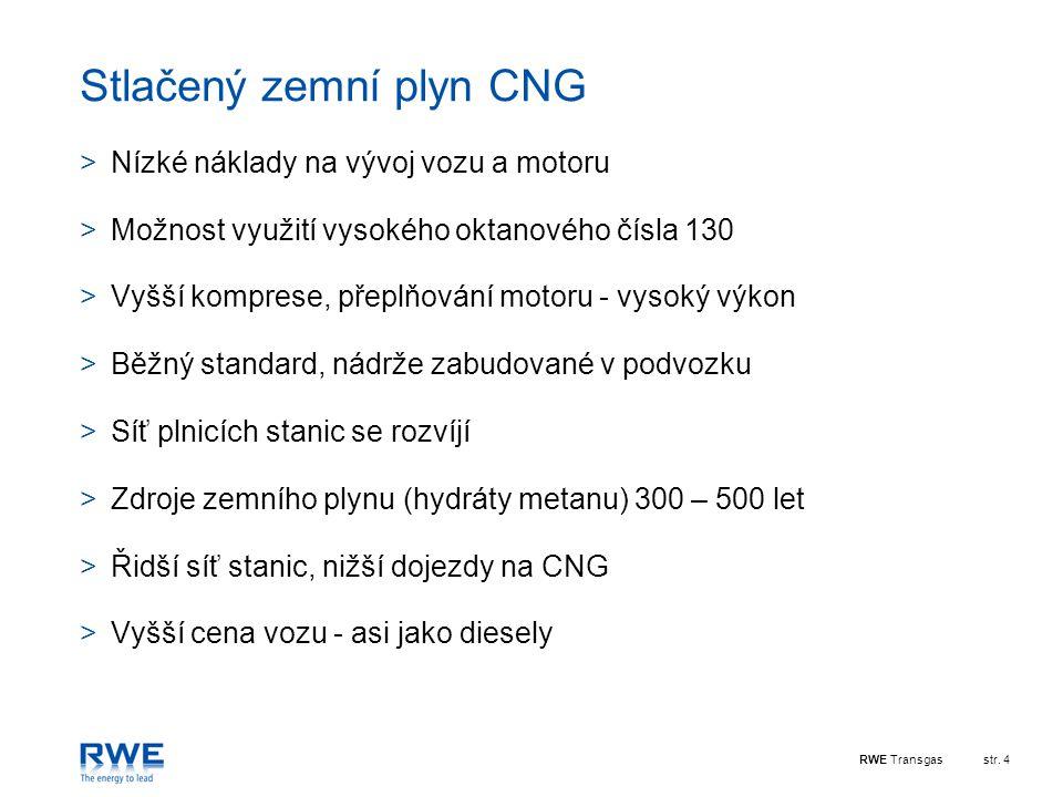 Stlačený zemní plyn CNG