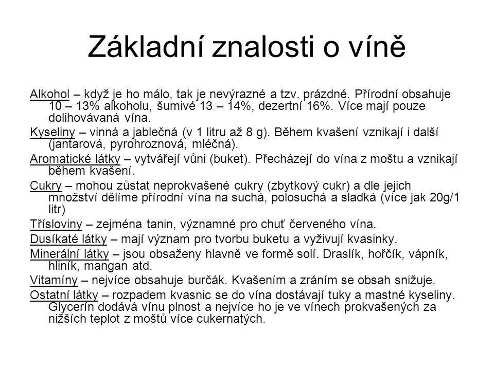 Základní znalosti o víně