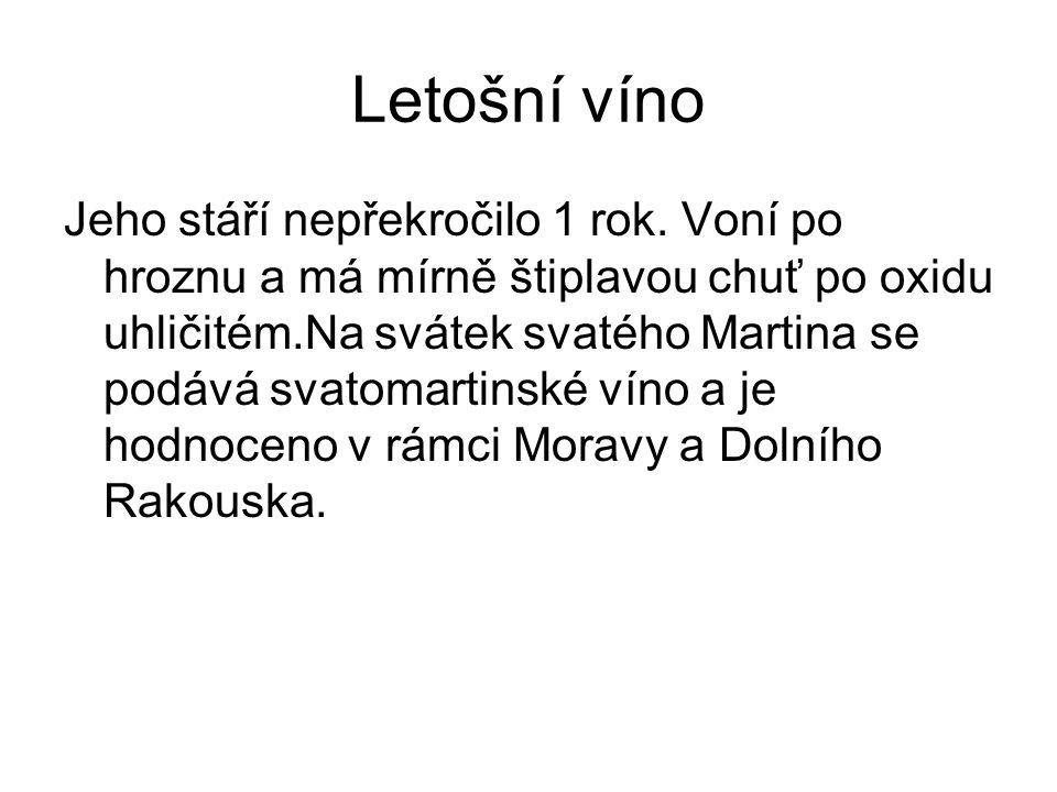 Letošní víno