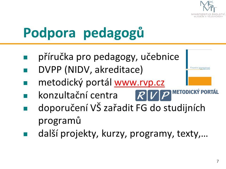 Podpora pedagogů příručka pro pedagogy, učebnice