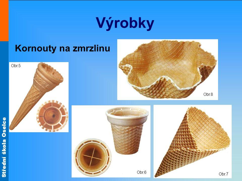 Výrobky Obr.8 Kornouty na zmrzlinu Obr.5 Obr.6 Obr.7