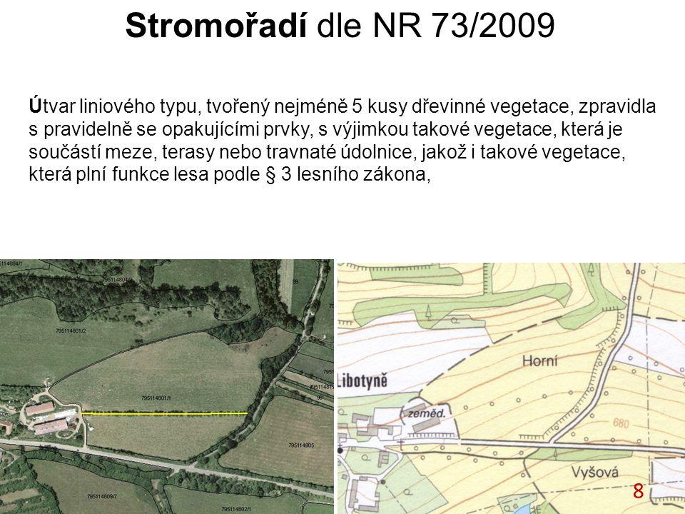 Stromořadí dle NR 73/2009