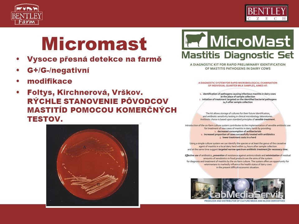 Micromast Vysoce přesná detekce na farmě G+/G-/negativní modifikace